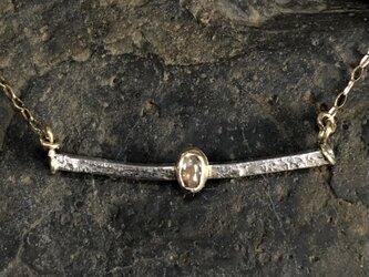 ナチュラルダイヤモンドペンダント〈Horizontal line〉k10&silver950の画像