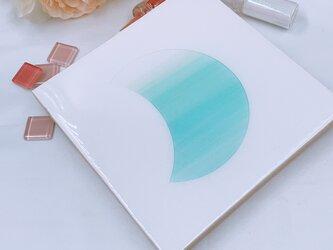 アルコールインクアートlayer技法moonパネルの画像