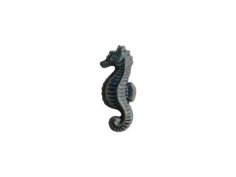 陶器ブローチ タツノオトシゴ サビ青の画像