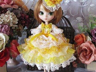 ☆Sale ロリータロマンス リカちゃん&ブライス 妖精が舞うレモンイエローのプリンセスドレスの画像