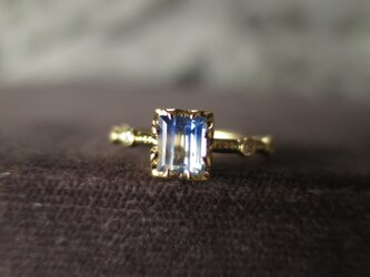 K18 Bicolor Blue Sapphire・Diamond Ringの画像