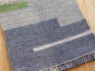 【手織り】リネンの敷物#01の画像