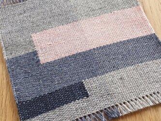 【手織り】リネンの敷物#02の画像