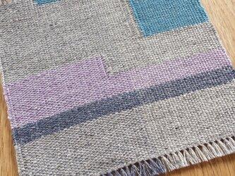 【手織り】リネンの敷物#03の画像