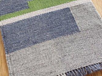 【手織り】リネンの敷物#04の画像