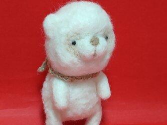 白くまさん(羊毛フェルト)の画像