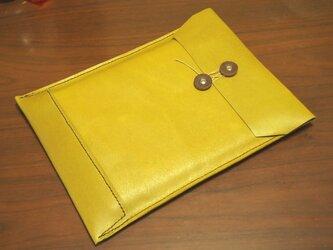 トスカーナ産床革のマニラ封筒 A4ファイル対応の画像