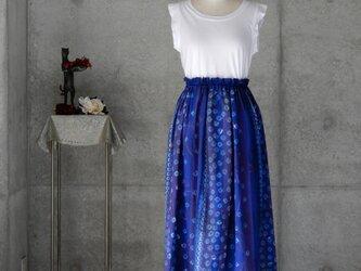 着物リメイク 有松絞りのスカート/ フリーサイズの画像
