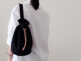 Linen One shoulder ruck sack-free 【受注制作】 リネンワンショルダーリュック 長さフリーの画像