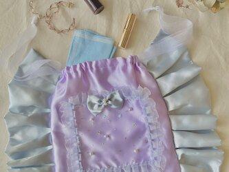 大人かわいい巾着バッグの画像