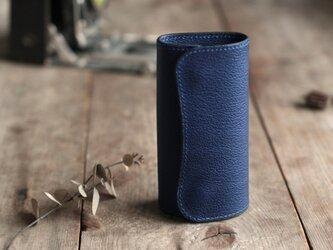 藍染革[shiboai] キーケースの画像