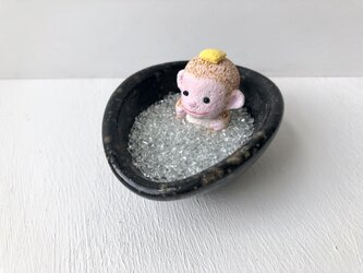 お風呂でのんびりお猿さんの画像