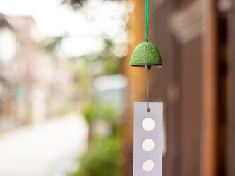 すずむし風鈴(緑色)の画像