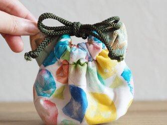 イノウエエリコxGood Taiwanコラボ猫型mini巾着ポーチ(一点作品)の画像