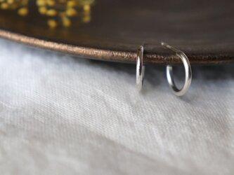 フープピアス きゃしゃ SS × 両耳用 silver950の画像