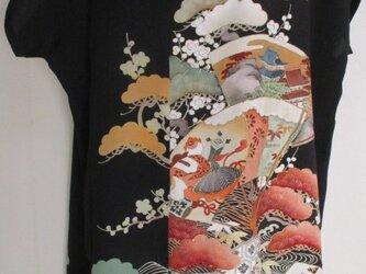 5718 色留袖で作ったロングベスト #送料無料の画像