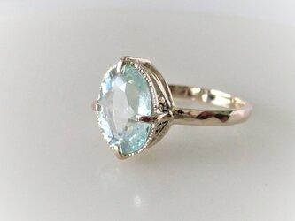 天然アクアマリンのK10の指輪Ⅱの画像