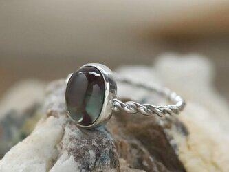 アンデシンのツイストリング Andesine Ring Silver925  #11号 天然石/鉱物/原石/ジュエリー/リングの画像