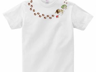 猫Tシャツ<ネックレスシリーズ>「カエルと猫」の画像