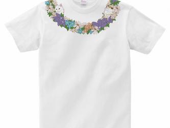 猫Tシャツ<ネックレスシリーズ>「お花と猫」の画像