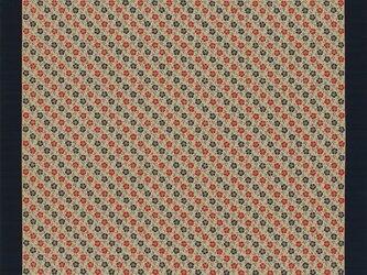 大判 風呂敷 いせ辰 なでしこ 金茶 綿100%  128cmx128cmの画像