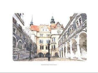 ドレスデン城中庭 (油絵風)の画像