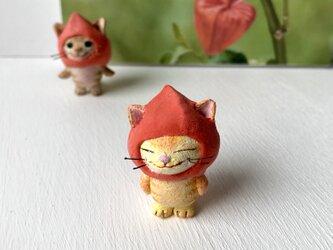 ほおずき猫さん(黄トラ)の画像
