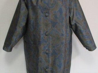 5726 色大島紬で作ったジャケット #送料無料の画像