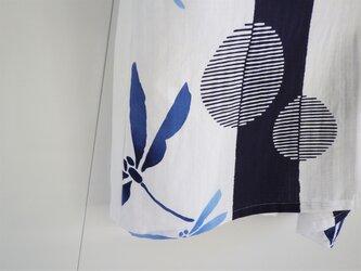 爽やか浴衣のブラウス 本染め浴衣 丸簾の画像
