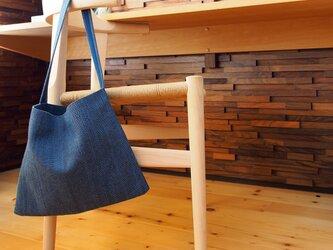 武州正藍染 サコッシュ 一重刺子 ブルーの画像