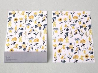 便箋15枚セット 黄色い植物の画像