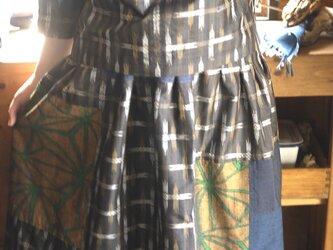 大島紬着物からセットアップの画像