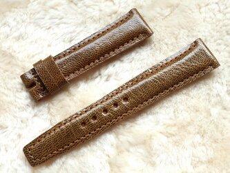 腕時計ベルト 18-16mm ブラウン #89の画像