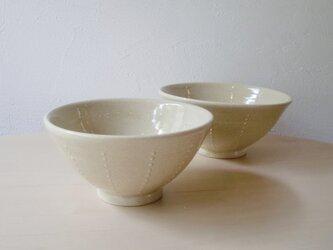 ドット模様の夫婦茶碗の画像