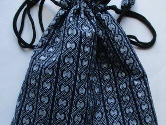5735 浴衣地の反物で作った巾着袋 #送料無料の画像