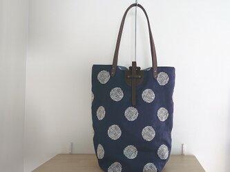 リネン刺繍 トートバッグ(大)の画像
