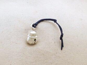 銀製の鈴 『 本坪型・六十四面体 』 (シルバー925) 根付・帯留飾りの画像