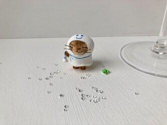 てるてる猫さん キジトラの画像