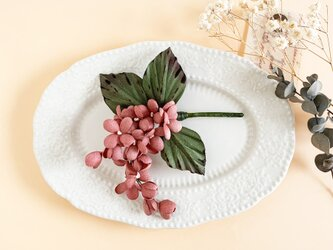 "corsage : コサージュ "" リラの小枝 "" |  アンティークピンク |の画像"