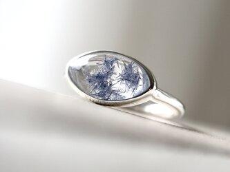 [深海庭園デュモルチェライトinクォーツ]ringの画像