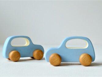 木の車 Aタイプ(スカイブルー)の画像