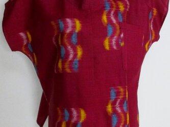 5738 銘仙の着物で作ったTシャツ #送料無料の画像