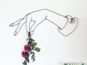 Wire Wall Art Bouque NO.1(花付き)の画像