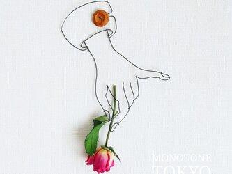 Wire Wall Art Flower (ローズ)の画像