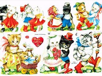 ドイツ製クロモス 猫とダンスを ラメなし DA-CHRY021(Made in Germany)の画像