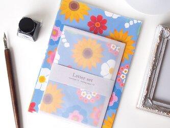 夏の花のレターセットの画像