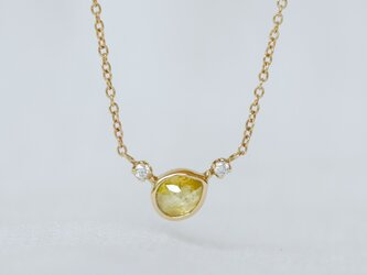 littlest bouquet Diamond Necklace Yellow lilyの画像