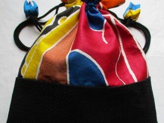5741 五月旗と消防団服で作った巾着袋 #送料無料の画像