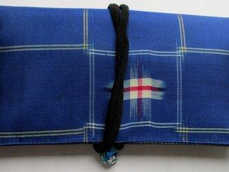 5742 銘仙の着物で作った和風財布・ポーチ #送料無料の画像