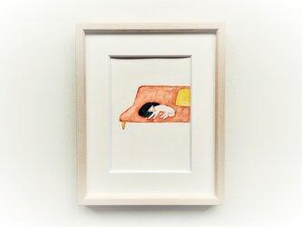 「ソファ」 イラスト原画 ※木製額縁入りの画像